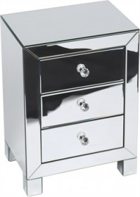 Reflections 3 Drawer Accent Table - Avenue Six REF173-SLV