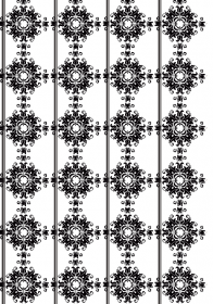Black White Damask Wallpaper Panel