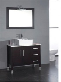 Cambridge Plumbing 8118 40-inch  Bathroom Vanity Set with a Ploished Chrome Faucet