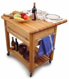 Grand Kitchen Workcenter with Drop Leaf - Catskill Craftsmen 2005