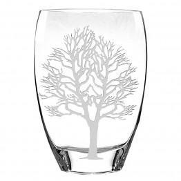 Tree Of Life Mouth Blown European Vase