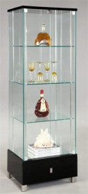 Glass Curio - Chintaly 6628-CUR