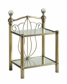 Lemoore Brass Night Stand - Coaster 300426