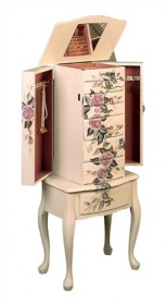 Floral Jewelry Armoire - Coaster 4021