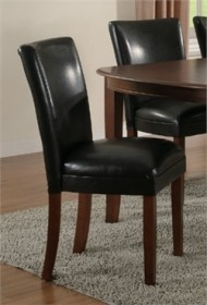 Black Parson Chair (Set of 2) - Coaster 4077BLK