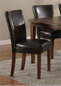 Brown Parson Chair (Set of 2) - Coaster 4077BRN