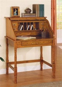 Oak Finish Secretary Desk - Coaster 5301N