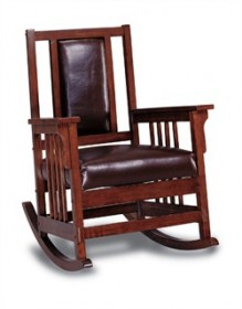 Brown Padded Rocker - Coaster 600058