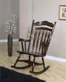 Traditional Walnut Rocker - Coaster 600187