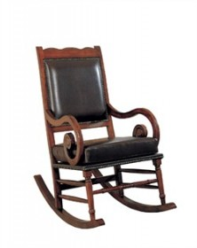 Traditional Black Padded Rocker - Coaster 600188