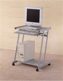 Silver Mobile Computer Desk - Coaster 7173