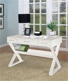 Casual White Desk - Coaster 800912