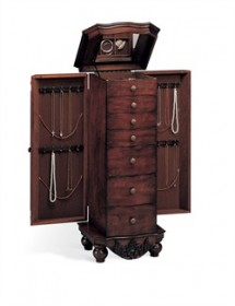 Traditional Cherry Jewelry Armoire - Coaster 900065