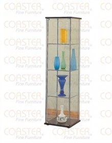 Modern Glass / Chrome Curio Cabinet - Coaster 950172