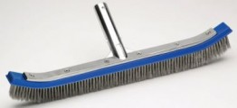18 STAINLESS STEEL & NYLON WALL / FLOOR BRUSH FOR POOLS