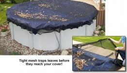 12' X 32' Oval Leaf Net Pool Cover