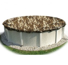 12 x 24' Oval  CAMO Cover 15 Year Winter Pool Covers