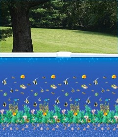 30' Round Aquarium Bahama Overlap Swimming Pool Liner