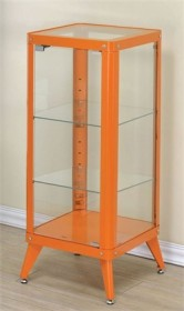 Furniture of America Congdon Modern 1-Shelf Large Metal Display Cabinet in Orange - Enitial Lab IDF-AC6273OR-L