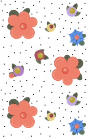 Happy Flowers Wallpaper Panel