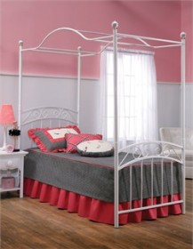 Emily Twin Bed Set & Canopy - Hillsdale Furniture 11180BTWPR (Shipping Included)