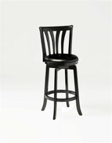 "Savana  26"" Swivel Counter Stool in Black - Hillsdale 4495-827"
