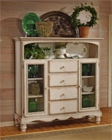 Wilshire Four Drawer Baker's Cabinet in White - Hillsdale 4508-854 (Shipping Included)