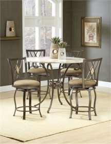 Hillsdale 4815DTBSGDM - Brookside 5-PC Counter Height Dining Set w/ Brookside Diamond Stools (Shipping Included)