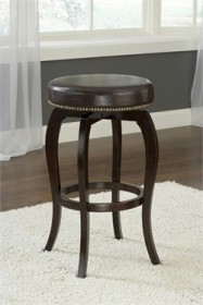 Wilmington Backless Swivel Bar Stool in Brown - Hillsdale 4933-832