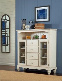 Pine Island Four Drawer Baker's Cabinet - Hillsdale Furniture 5265-854