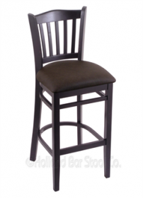 "(Shipping Included) Holland Hampton 3120  30"" Stool /w Black Finish, Rein Coffee Seat 312030BlkReiCof"