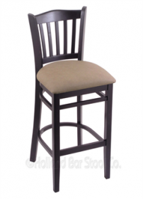 "(Shipping Included) Holland Hampton 3120  30"" Stool /w Black Finish, Rein Thatch Seat 312030BlkReiTha"