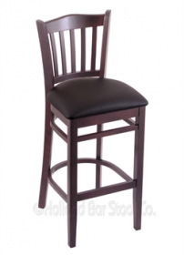 "(Shipping Included) Holland Hampton 3120  30"" Stool /w Dark Cherry Finish, Allante Espresso Seat 312030DCALEspr"
