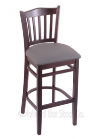 "(Shipping Included) Holland Hampton 3120  30"" Stool /w Dark Cherry Finish, Allante Medium Grey Seat 312030DCALMdGr"