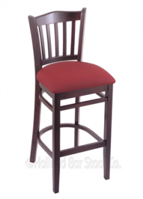 "(Shipping Included) Holland Hampton 3120  30"" Stool /w Dark Cherry Finish, Allante Wine Seat 312030DCALWine"