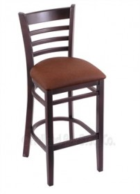"(Shipping Included) Holland Hampton 3140  25"" Stool /w Dark Cherry Finish, Rein Adobe Seat 314025DCReiAdo"