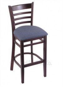 "(Shipping Included) Holland Hampton 3140  25"" Stool /w Dark Cherry Finish, Rein Bay Seat 314025DCReiBay"