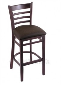 "(Shipping Included) Holland Hampton 3140  25"" Stool /w Dark Cherry Finish, Rein Coffee Seat 314025DCReiCof"