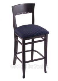 "(Shipping Included) Holland Hampton 3160  25"" Stool /w Black Finish, Axis Denim Seat 316025BlkAxsDnm"