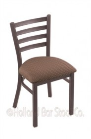"(Shipping Included) Holland 40018PWAxsWil 400 Jackie 18"" Chair /w Pewter Finish, Axis Willow Seat"
