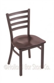 "(Shipping Included) Holland 40018PWDCMpl 400 Jackie 18"" Chair /w Pewter Finish, Dark Cherry Maple Seat"