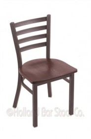 "(Shipping Included) Holland 40018PWDCOak 400 Jackie 18"" Chair /w Pewter Finish, Dark Cherry Oak Seat"