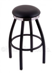 (Shipping Included) Holland C8B2C Classic Bar Stool 25 Inch C8B2C25BlkVinyl