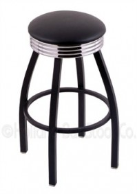(Shipping Included) Holland C8B3C Classic Bar Stool 25 Inch C8B3C25BlkVinyl