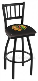 "25"" Black Wrinkle Logo Swivel Counter Stool w/ Jailhouse Style Back - Holland Bar Stool L018-25 (Shipping Included)"