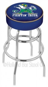 "25"" Cushion Logo Swivel Counter Stool w/ Double Ring Chrome Base - Holland Bar Stool L7C1-25 (Shipping Included)"