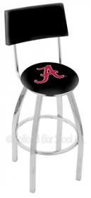 "25"" Chrome Logo Swivel Counter Stool w/ Back - Holland Bar Stool L8C4-25 (Shipping Included)"