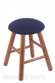 (Shipping Included) Holland RC18OSMedAxsDnm Oak Vanity Stool in Medium Finish /w Axis Denim Seat