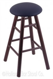 (Shipping Included) Holland RC36OSDCALDkBl Oak Extra Tall Bar Stool in Dark Cherry Finish /w Allante Dark Blue Seat