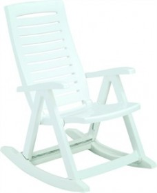 Rimax Rocking Chair in White - Inval 10002